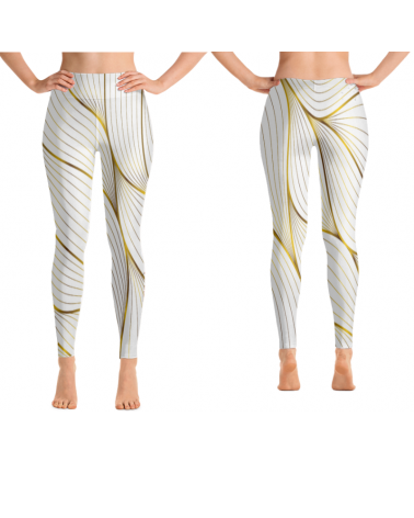 Custom Gold Leaf leggings...