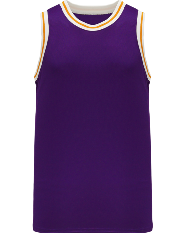 Custom NBA Old Lakers School Retro Throwback Vintage Basketball Jersey. Purple - White Gold   Design Yours - Fast Shipping