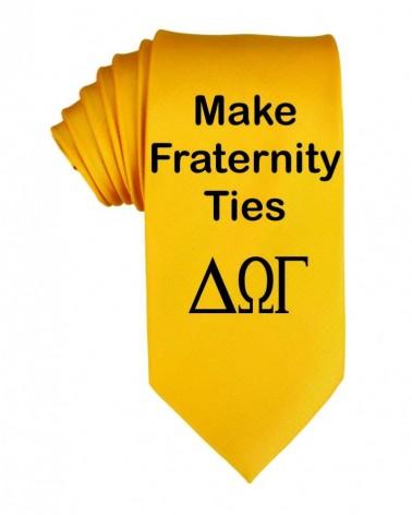 Custom Fraternity neckties - Made Greek ties   No- Minimium
