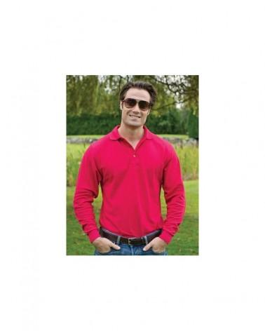 Custom  Silk Touch Pique Long Sleeve Sport shirt |  No- Minimium