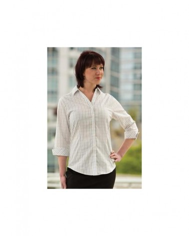 Custom Tattersall Check Ladies Woven shirt   No- Minimium