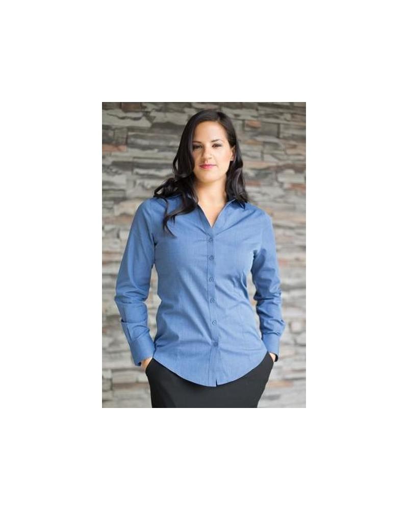 Custom Textured Ladies Woven shirt   No- Minimium