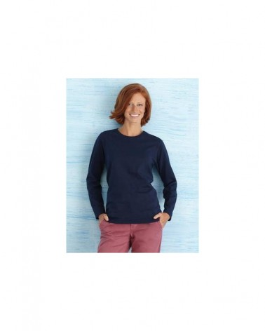 Custom  Heavy Cotton Missy Fit Long Sleeve T shirt    No- Minimium
