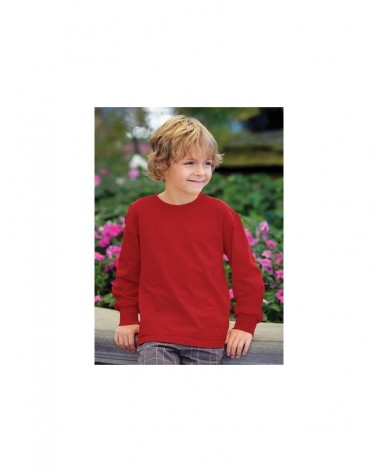 Custom  Fruit of the Loom Heavy Cotton Long Sleeves Youth T shirt    No- Minimium