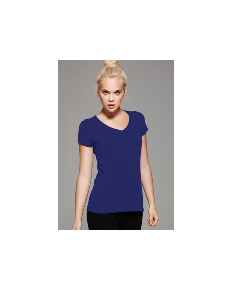 Custom Short Sleeve VNeck jersey Ladies Tee | No- Minimium