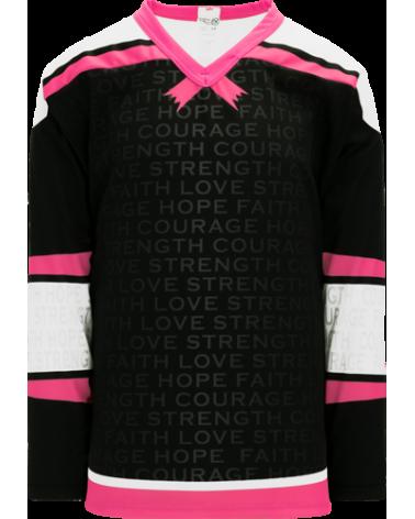 BREAST CANCER AWARENESS BLACK hockey jerseys
