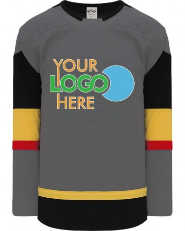 Customize Hockey Jersey - Las Vegas ice   Charcoal| Design  Your Own