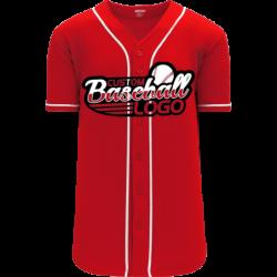 Custom Cincinnati Reds Team MLB Blank Baseball jersey Scarlet