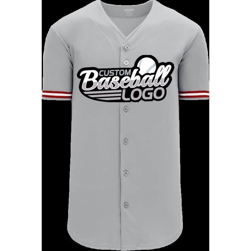 Custom Cincinnati MLB Blank Baseball jersey Gray
