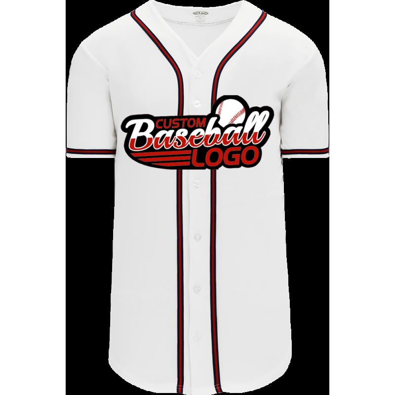 Custom Atlanta Braves MLB Blank Baseball jersey white