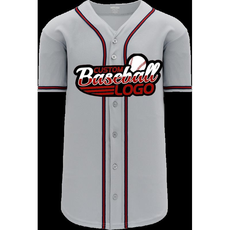 Custom Atlanta Braves MLB Blank Baseball jersey Road