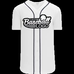 Custom Detroit Blank MLB Baseball jersey white-navy