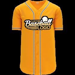 Custom Oakland MLB Blank baseball jersey gold