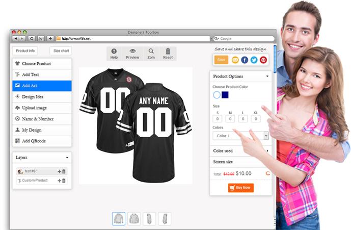 bdea7ae7a9fc Custom Football Jerseys - Design Team Football Jerseys Online
