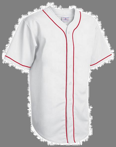 Custom full button piped baseball jersey for Custom baseball shirts no minimum