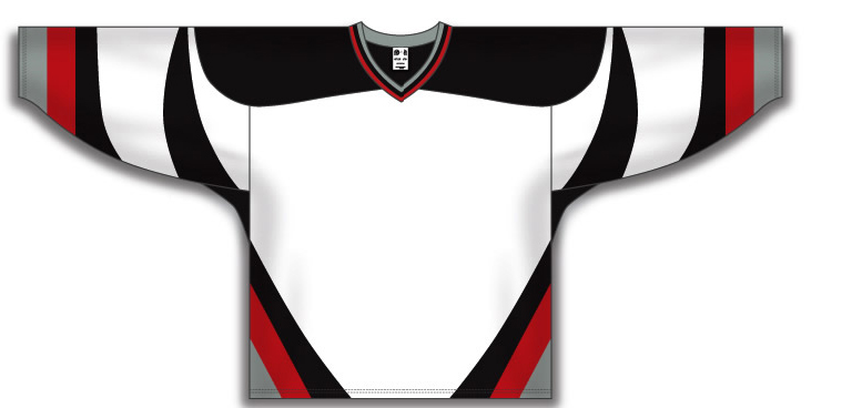 Custom Buffalo white team hockey jersey