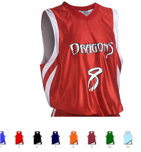 Custom Downtown reversible basketball jersey