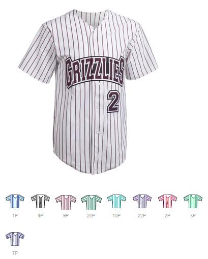 Design Custom Printed Pinstripe Baseball jersey Online