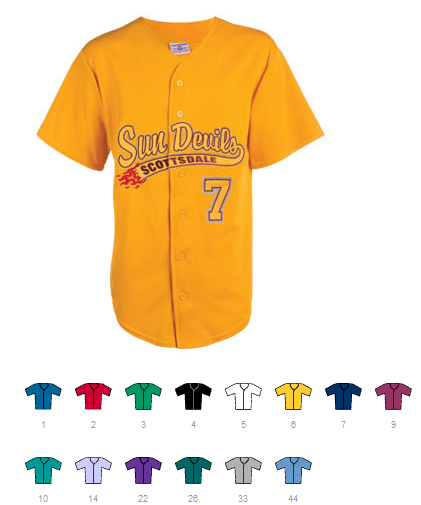 Hot Corner full button jersey | Customize with Logo, Player Name & Number