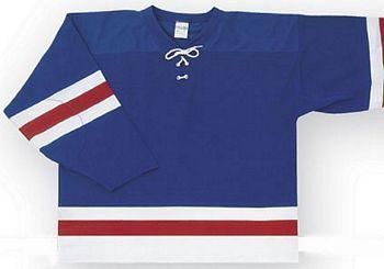 Custom New Rangers team hockey jersey nyr