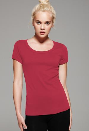 Short Sleeve Scoop Neck Ladies Tee