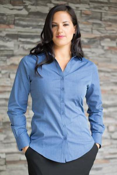 Custom Textured Ladies Woven shirt