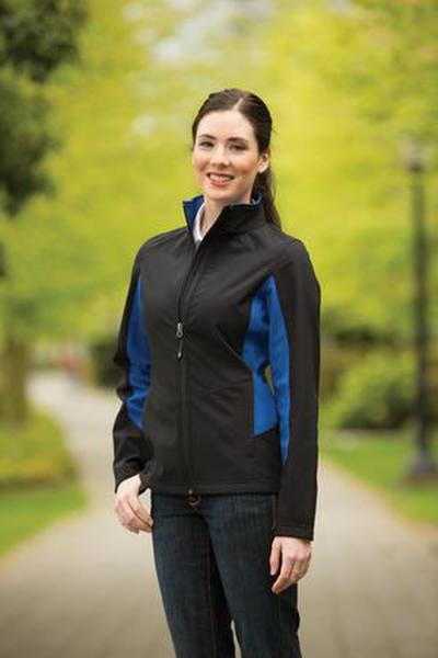 Custom Everyday Colour Block Soft Shell Ladies jacket