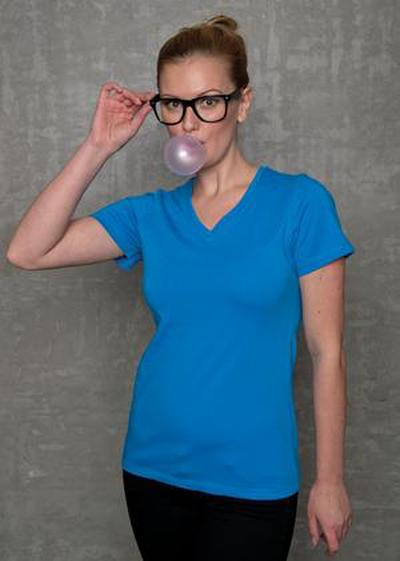 Moisture control Ladies VNeck shirt
