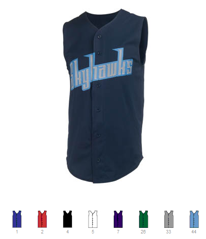 Custom Sleeveless Baseball Jerseys | Design Your Own | No Min