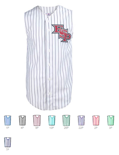6fbf830832 Custom Sleeveless pinstripe Baseball jersey | Design Your Own | No Min