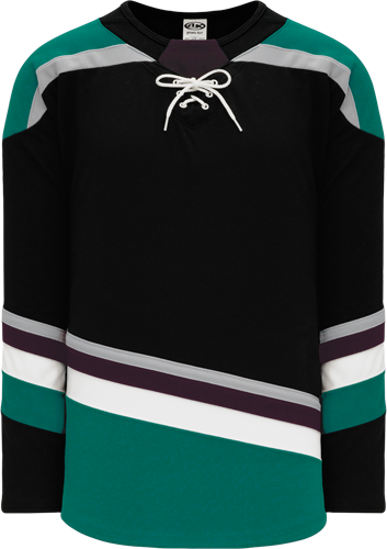 2018 ANAHEIM 3RD BLACK custom hockey jerseys
