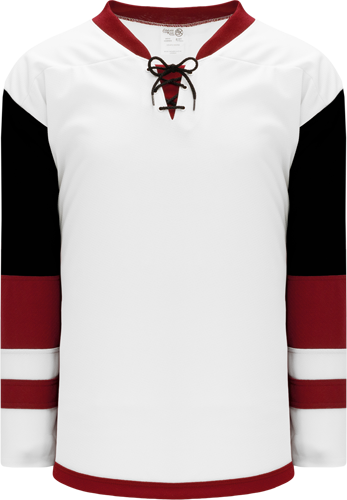 2015 ARIZONA WHITE custom hockey jerseys