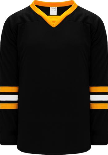 2008 BOSTON 3RD BLACK custom hockey jerseys