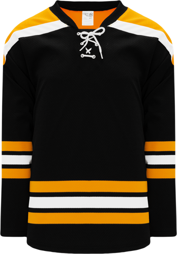 2007 BOSTON BLACK custom hockey jerseys