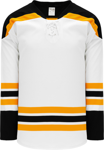 2007 BOSTON WHITE custom hockey jerseys