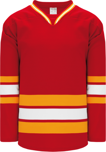 CALGARY 3RD   hockey jerseys RED  2009 | Customize with Logo, Player Name & Number