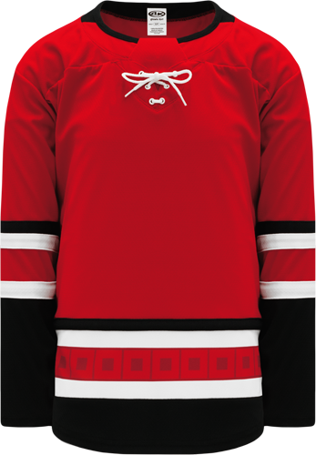 2017 CAROLINA RED custom hockey jerseys