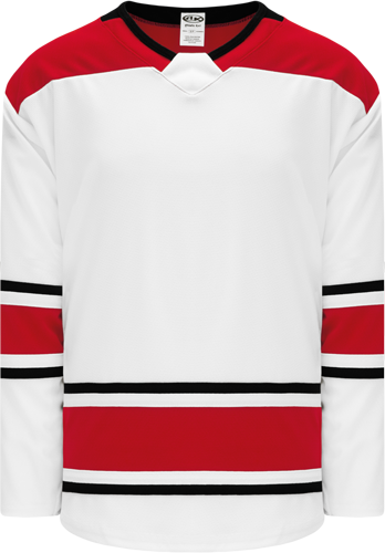 2017 CAROLINA WHITE custom hockey jerseys