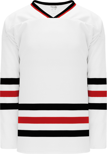 CHICAGO WHITE custom hockey jerseys
