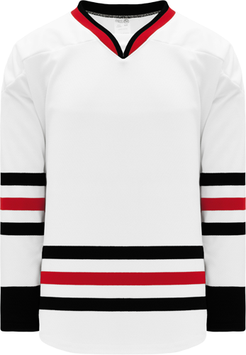2007 CHICAGO WHITE custom hockey jerseys