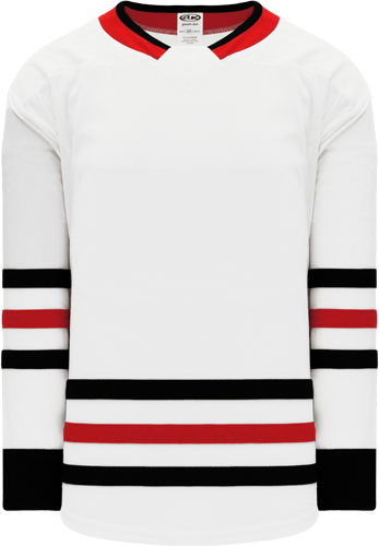 2017 CHICAGO WHITE custom hockey jerseys