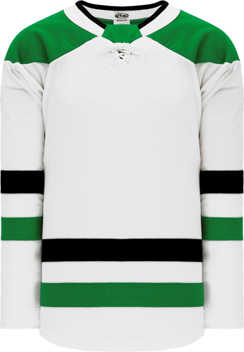 2017 DALLAS WHITE custom hockey jerseys