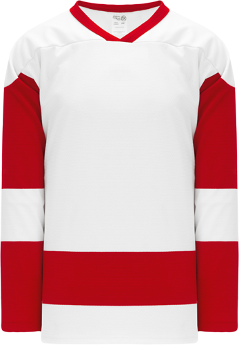 DETROIT redw inds hockey jerseys WHITE   | Customize with Logo, Player Name & Number