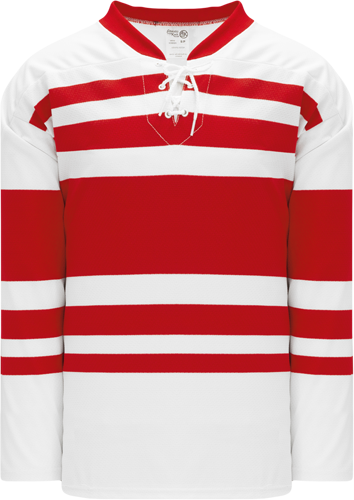 DETROIT red winds RETRO hockey jerseys WHITE   | Customize with Logo, Player Name & Number