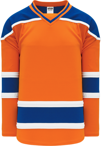 NEW 2015 EDMONTON 3RD ORANGE custom hockey jerseys