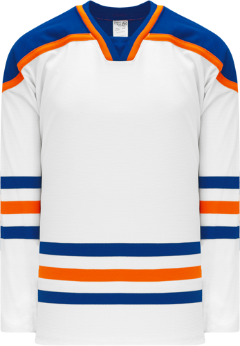 EDMONTON WHITE custom hockey jerseys