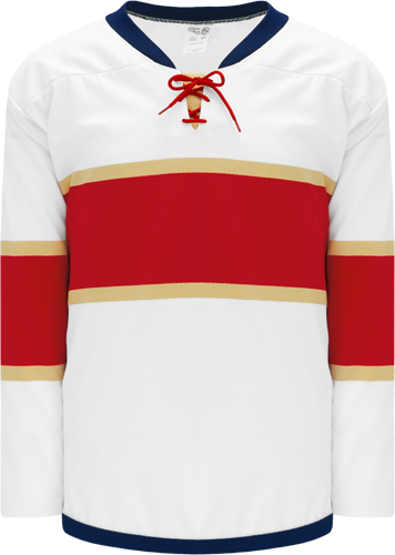 2016 FLORIDA WHITE custom hockey jerseys