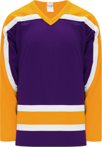 Customized VINTAGE LA PURPLE  hockey jerseys | No Minimium Order