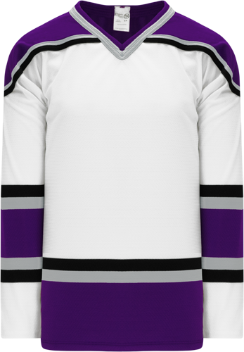 1998 LOS ANGELES WHITE custom hockey jerseys