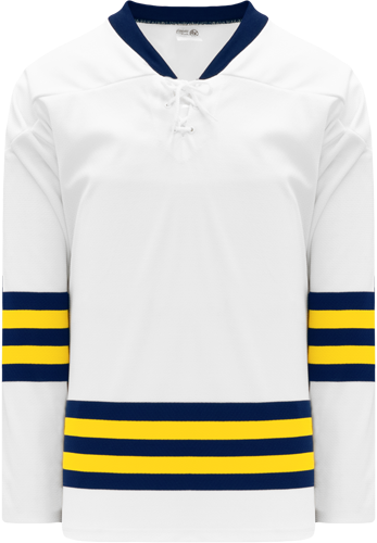 2011 MICHIGAN WHITE In-stock Cut & Sew  PROcustom hockey jerseys  custom hockey jerseys